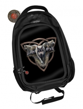 Wolf Trio Rucksack in 3D Optik - Anne Stokes