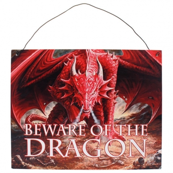 Anne stokes dragon's lair metal sign
