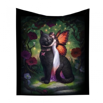 Cat and Fairy Throw - James Ryman 160cm