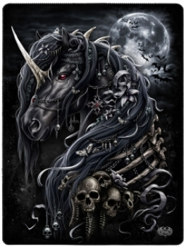 Dark Unicorn - Fleecedecke - 150 x 200 cm
