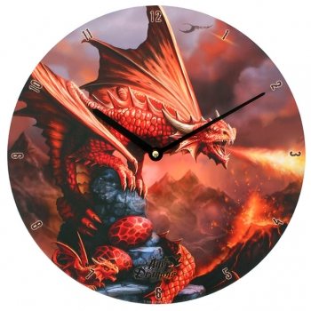 Fire Dragon Clock - Anne Stokes