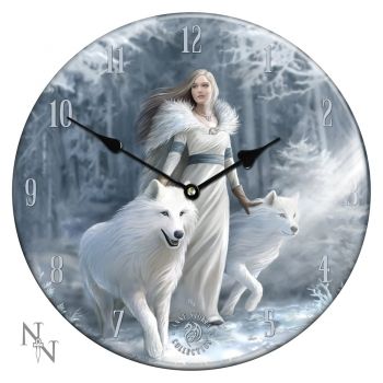 Winter Guardians Glas Bilderuhr - Anne Stokes