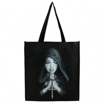 Gothic prayer shopping bag by - Anne Stokes