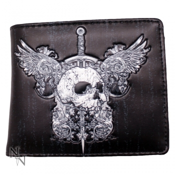 Men's Wallet - Skull & Wings 11cm