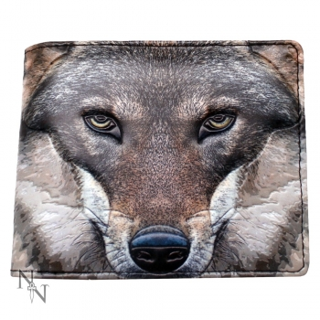 Men's Wallet - Portrait of a Wolf 11cm