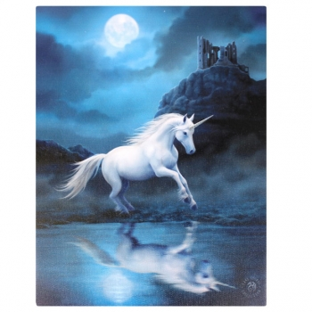 Moonlight unicorn Bild 25 x 19 cm - Anne Stokes