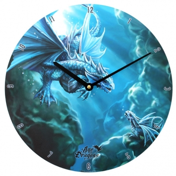 Water Dragon Clock - Anne Stokes