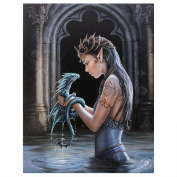 Water dragon Bild 25 x 19 cm - Anne Stokes