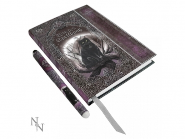 Embossed Journal Witches Spell Book A5 Journal with Pen P6