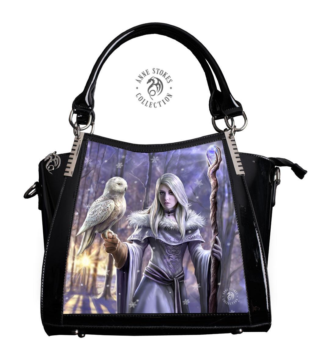 Fosshop Winter Owl Handtasche In Lack Und 3d Bild Anne Stokes