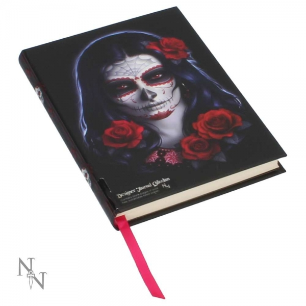 Embossed Journal Sugar Skull 17cm - James Ryman