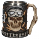 Iron Cross Skull Tankard 14cm